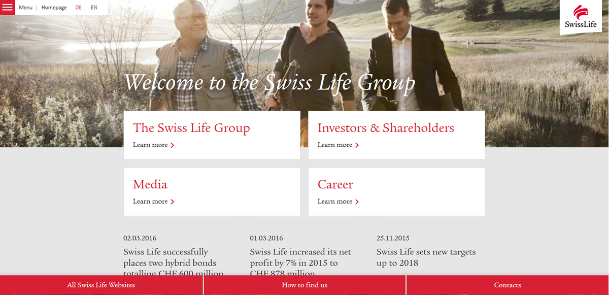 Welcome To The Swiss Life Group Swiss Life Group